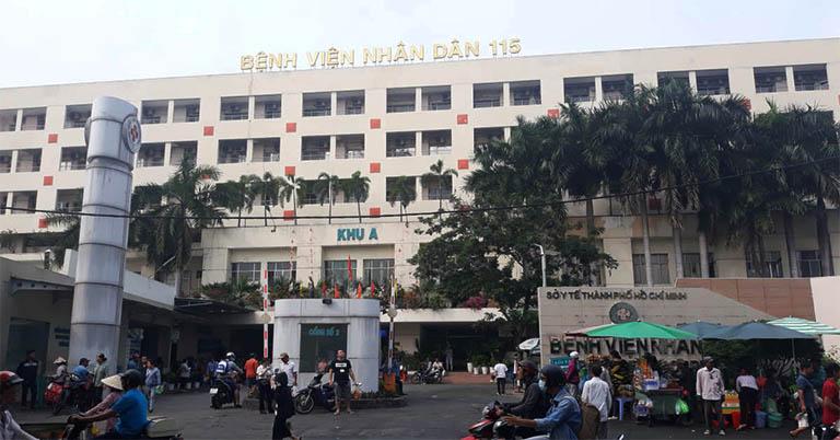 Bệnh viện Nhân dân 115 tọa lạc tại số 527 Sư Vạn Hạnh, Phường 12, Quận 10, thành phố Hồ Chí Minh