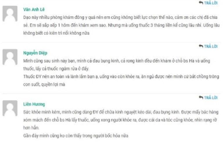 Chị em truyền tai nhau về hiệu quả bài thuốc của bác sĩ Thanh Hà trên các trang web, diễn đàn