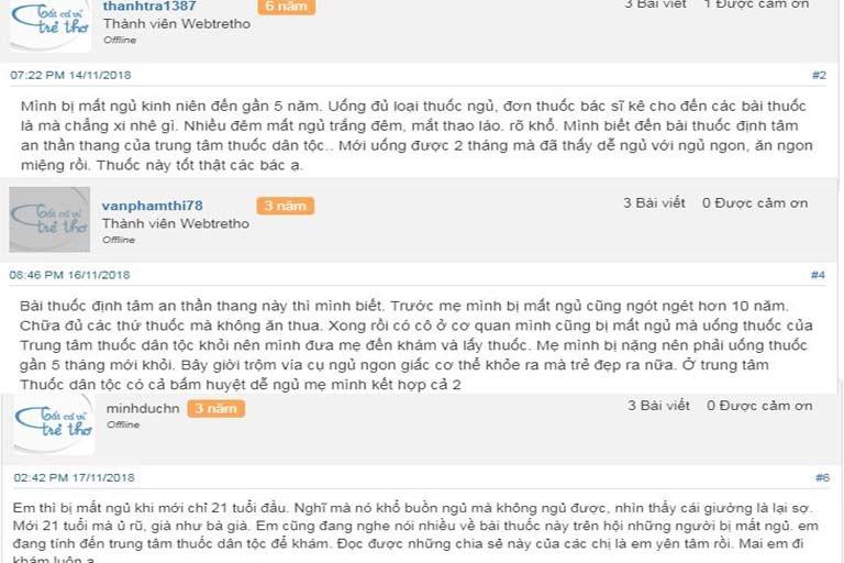 Phản hồi của người dùng trên Webtretho