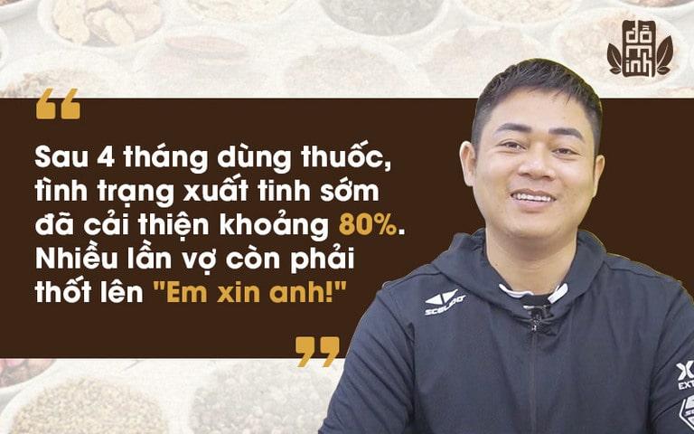 Anh Hưng chia sẻ về hiệu quả dùng bài thuốc Sinh lý nam Đỗ Minh