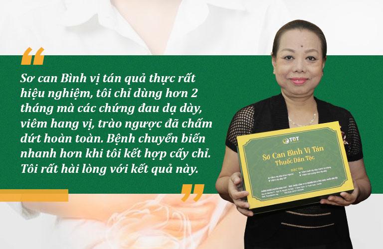 Nghệ sĩ Thu Hà chia sẻ về hiệu quả bài thuốc