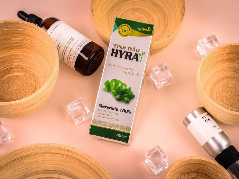 Sản phẩm có tên thương mại là Tinh dầu trị rụng tóc Hyra