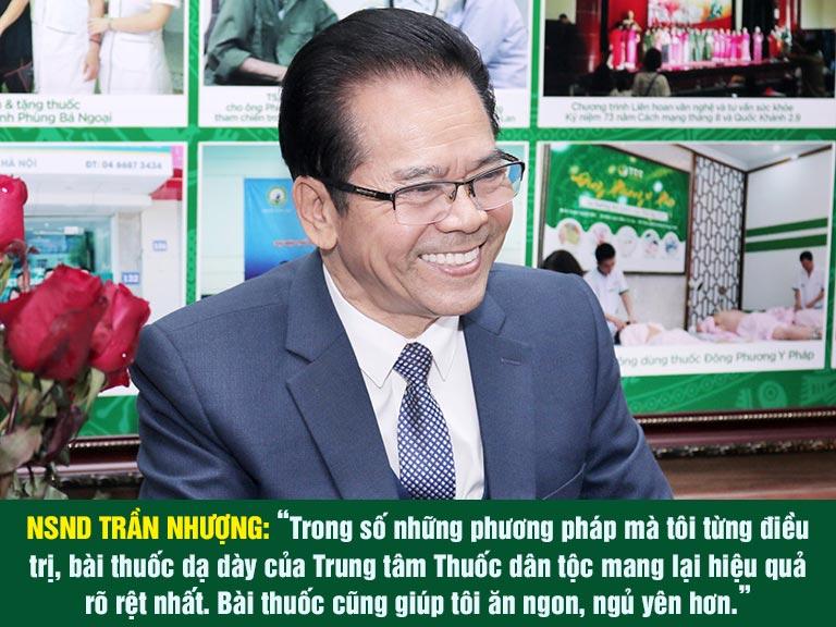NSND Trần Nhượng đánh giá về hiệu quả bài thuốc Sơ can Bình vị tán