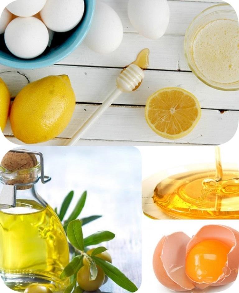 Sử dụng hỗn hợp chanh, ô liu và lòng trắng trứng gà để đắp da mặt bị dị ứng