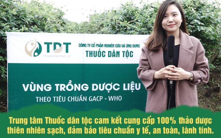 Vườn trồng dược liệu theo tiêu chuẩn GACP-WHO của Trung tâm Thuốc dân tộc