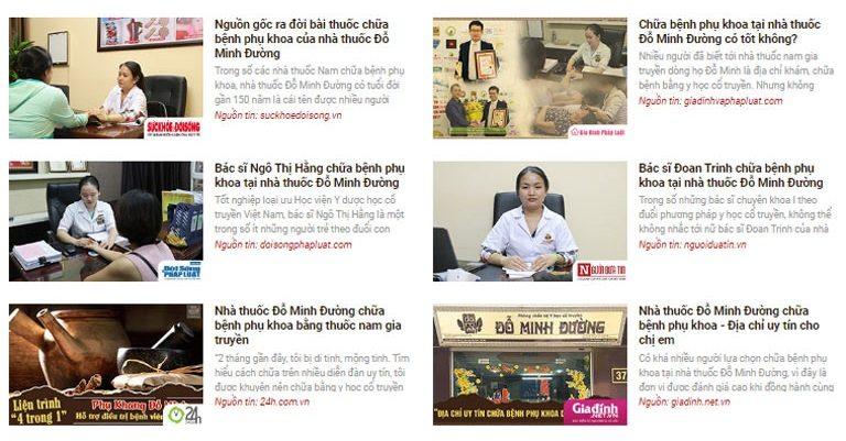 Chị Phương Mai tìm đọc rất nhiều bài báo nói về đơn vị và bài thuốc Phụ Khang Đỗ Minh