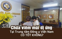 Chữa viêm mũi dị ứng trung tâm Đông y Việt Nam