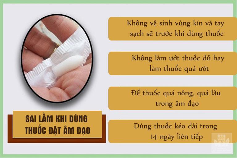Một số sai lầm khi sử dụng thuốc đặt âm đạo