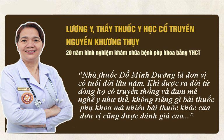 Bs Nguyễn Khương Thụy nhận xét về bài thuốc Phụ Khang Đỗ Minh