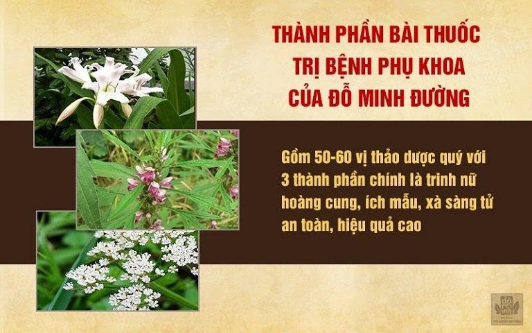 Bài thuốc Phụ Khang Đỗ Minh được tạo nên từ 50 nam dược quý hàng đầu