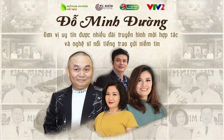 Nhà thuốc Đỗ Minh Đường đồng hành cùng nhiều chương trình truyền hình và các nghệ sỹ chăm sóc sức khỏe