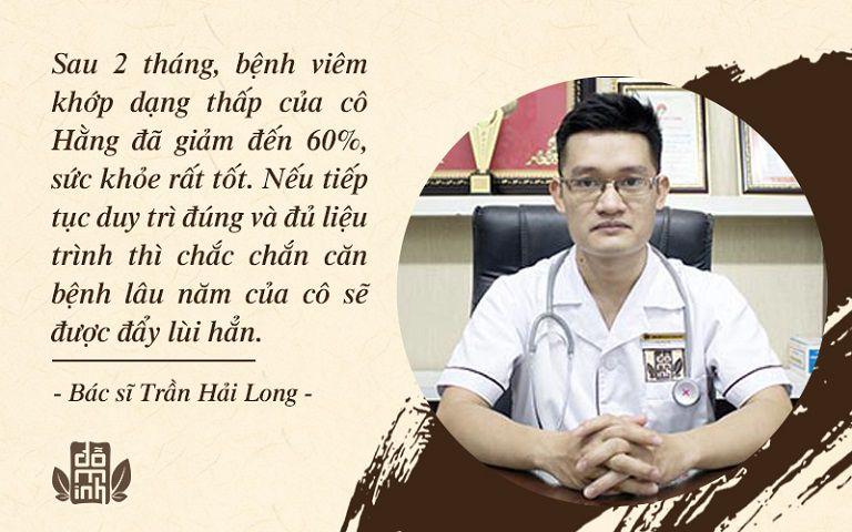 Bác sĩ Trần Hải Long nhận định về tình trạng bệnh của cô Hằng