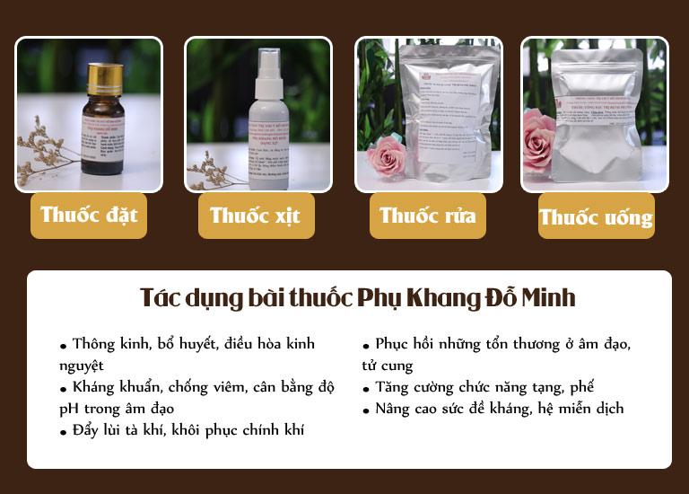 Liệu trình bài thuốc Phụ Khang Đỗ Minh chữa bệnh phụ khoa