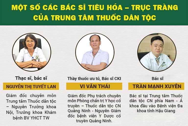 Đội ngũ bác sĩ chủ chốt, chữa dạ dày giỏi tại cả 3 cơ sở Thuốc dân tộc trên cả nước