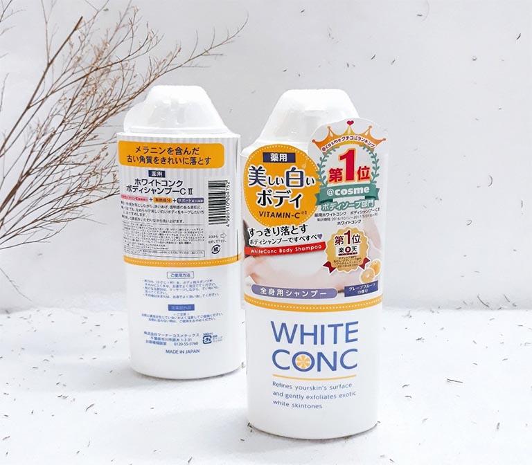 Sữa tắm White Conc Body là một sản phẩm của Nhật Bản được chiết xuất từ các dược liệu thiên nhiên vưới công dụng hỗ trợ chữa dày sừng nang lông