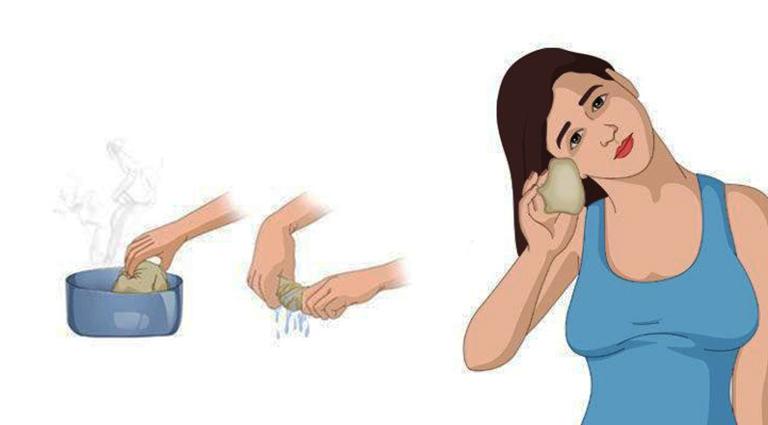 Chườm ấm tai là mẹo vặt dân gian hỗ trợ điều trị bệnh viêm tai ngoài