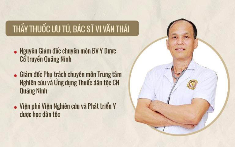 Bác sĩ Vi Văn Thái và những đóng góp đã được ghi nhận