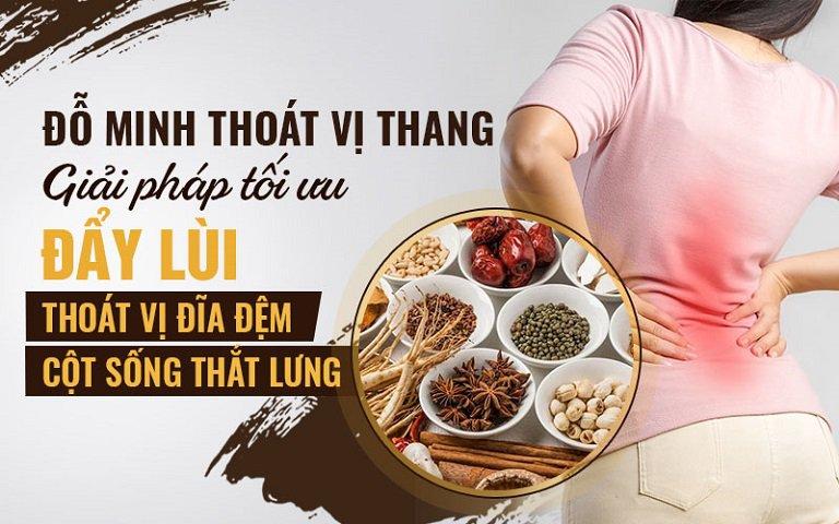 bài thuốc Đỗ Minh Thoát Vị Thang đánh bay thoát vị đĩa đệm cột sống thắt lưng hiệu quả