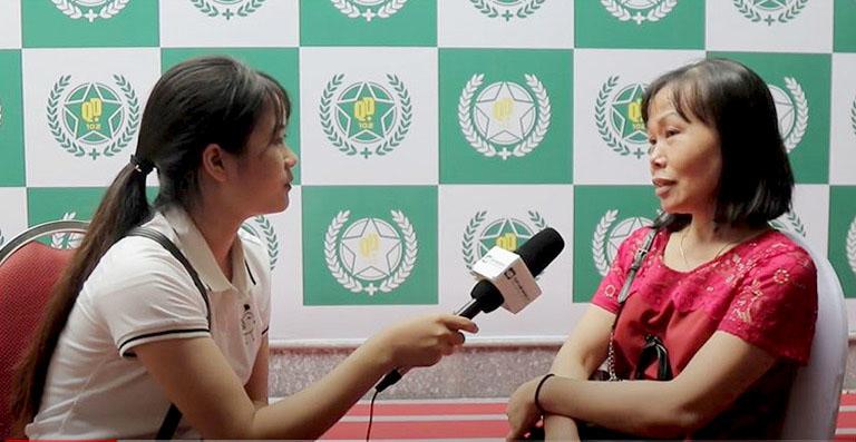 Cô Nguyễn Thị Tư bệnh nhân đã điều trị bệnh phujkhoa và xương khớp tại Trung tâm Thừa kế và Ứng dụng Đông y Việt Nam