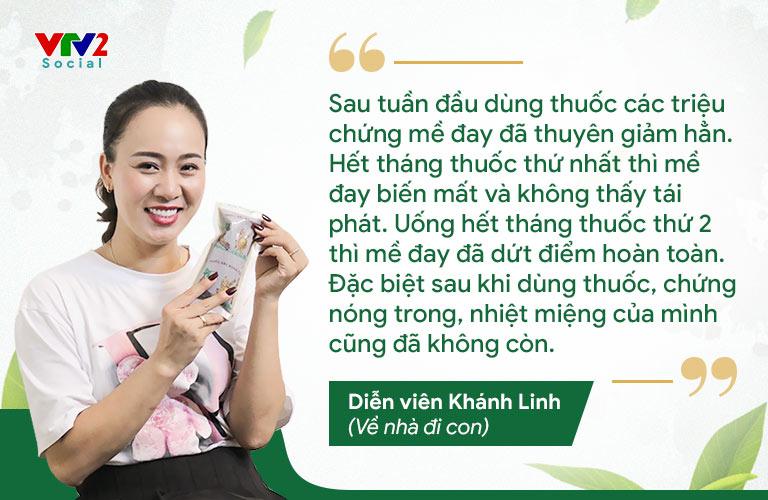 Diễn viên Phùng Khánh Linh tin tưởng tuyệt đối vào bài thuốc Tiêu ban Giải độc thang của Trung tâm Thuốc dân tộc