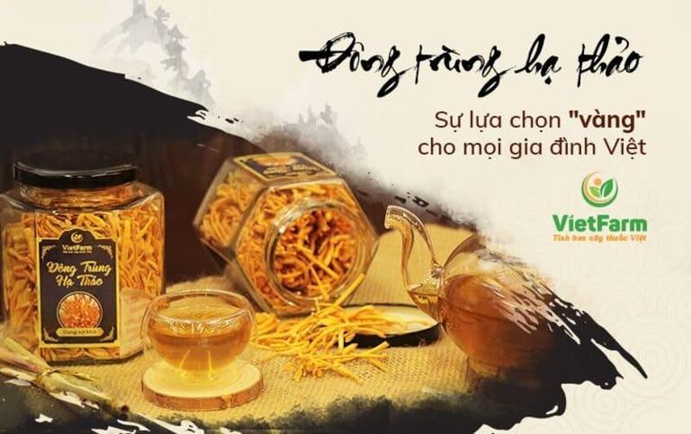 Đông trùng hạ thảo Vietfarm, một thương hiệu nổi tiếng với đa dạng các loại sản phẩm tại Việt Nam
