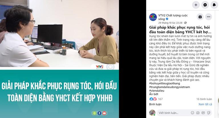 VTV2 Chất lượng cuộc sống giới thiệu phương pháp điều trị rụng tóc tại Trung tâm Da liễu Đông y Việt Nam