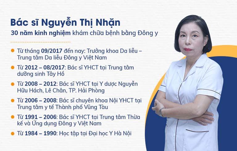 Bác sĩ Nguyễn Thị Nhặn là người trực tiếp thăm khám, điều trị cho nghệ sĩ Thu Huyền