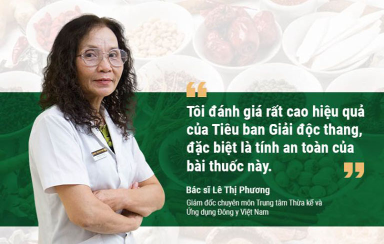 Bác sĩ Phương đánh giá cao hiệu quả bài thuốc Tiêu ban Giải độc thang