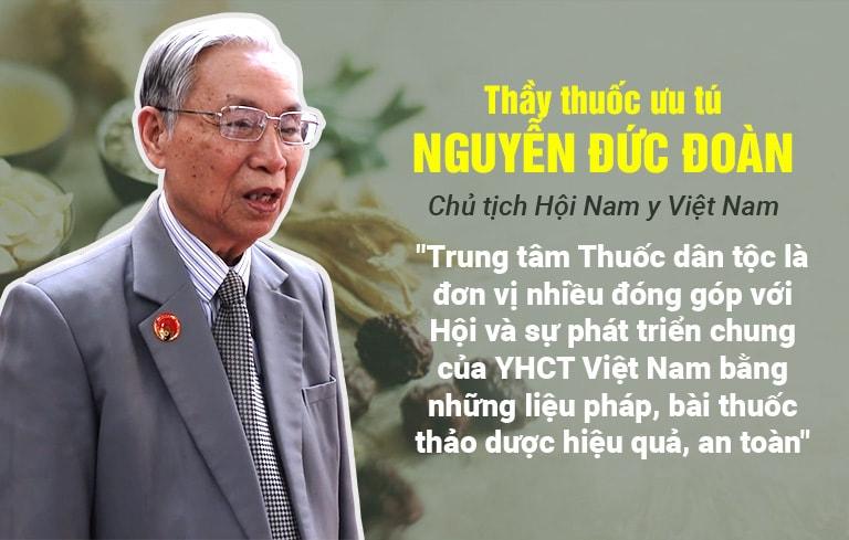 Chủ tịch Hội Nam y Việt Nam đánh giá về hiệu quả điều trị tại TT Thuốc dân tộc