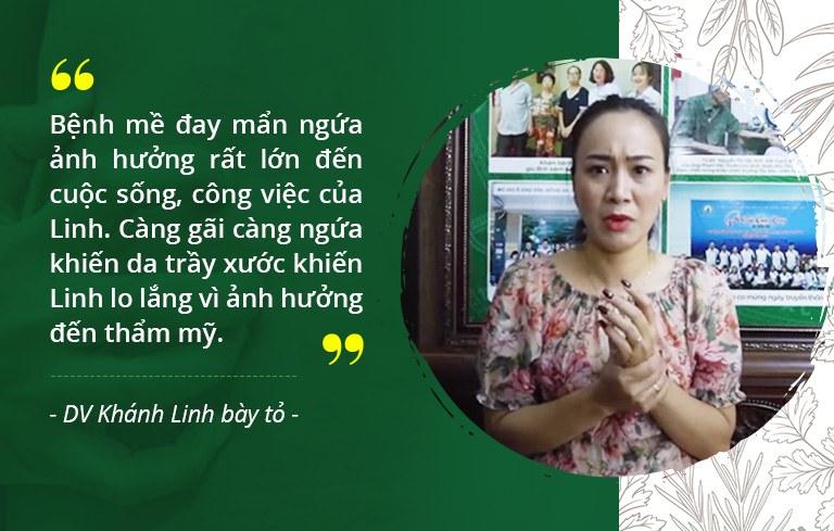 Diễn viên Khánh Linh thường xuyên bị nổi mề đay mẩn ngứa