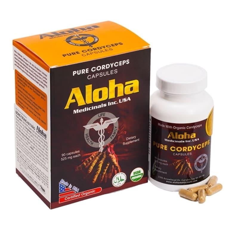 Thực phẩm chức năng Aloha được bào chế từ 100% đông trùng hạ thảo nuôi cấy tiêu chuẩn tại Mỹ