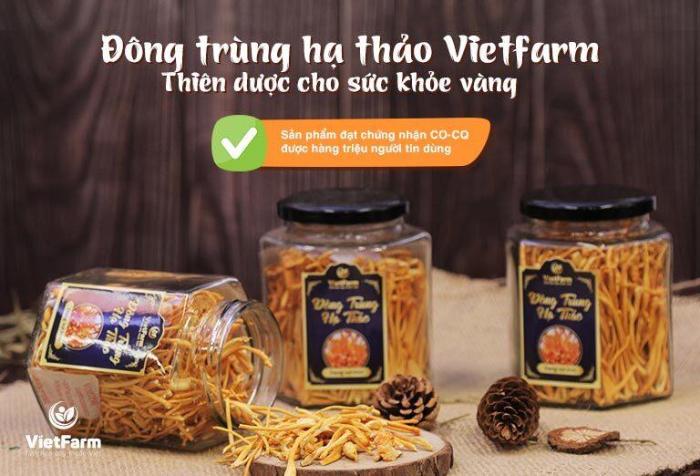 Đông trùng Vietfarm có Cordycepin đạt 70% đông trùng Tây Tạng