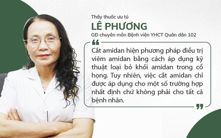 Bác sĩ Lê Phương chia sẻ về cắt amidan