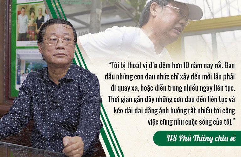 Nghệ sĩ Phú Thăng từng sống chung với thoát vị đĩa đệm 10 năm ròng rã