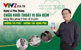 Nghệ sĩ Phú Thăng chữa thoát vị đĩa đệm tại Trung tâm Thuốc dân tộc