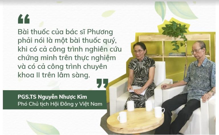 PGS.TS Nguyễn Nhược Kim nhận xét về bài thuốc của bác sĩ Phương