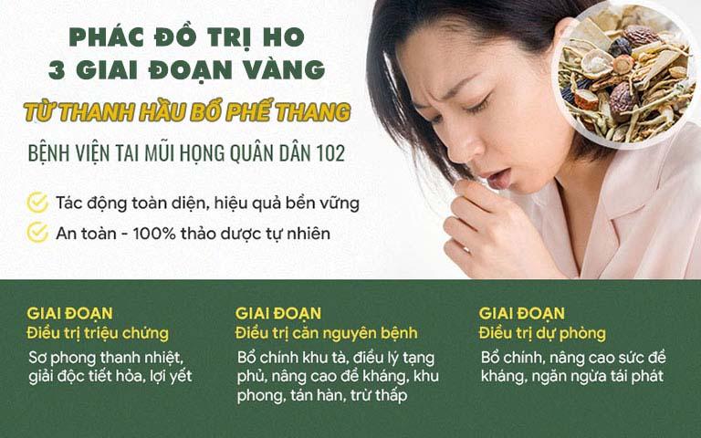 Phác đồ điều trị ho tại bệnh viện Tai Mũi Họng Quân dân 102