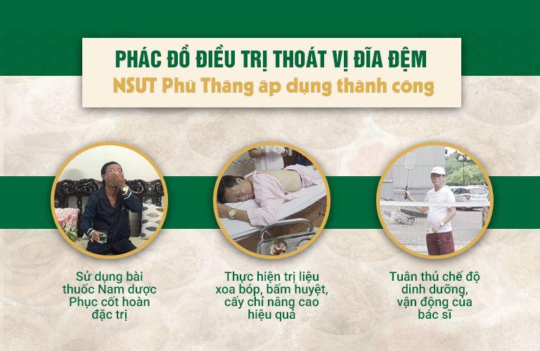 Phác đồ điều trị thoát vị đĩa đệm của nghệ sĩ Phú Thăng