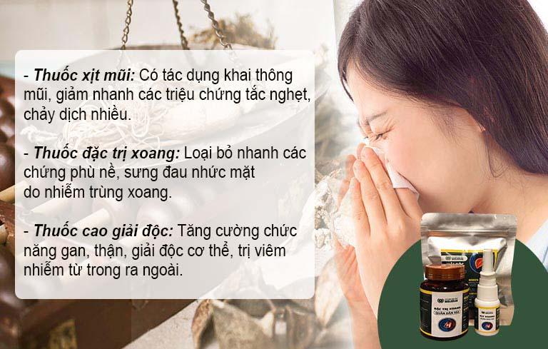 Các sản phẩm hỗ trợ điều trị viêm xoang