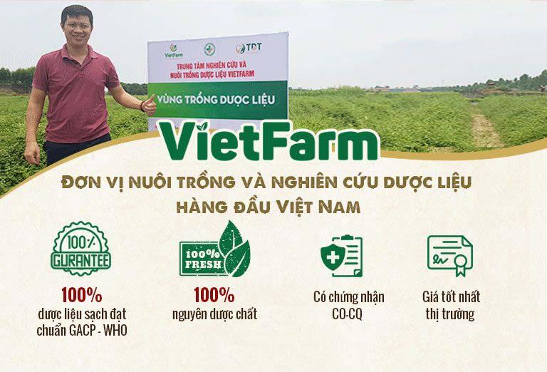 Dược liệu Vietfarm đạt các tiêu chuẩn về chất lượng của Tổ chức Y tế Thế Giới