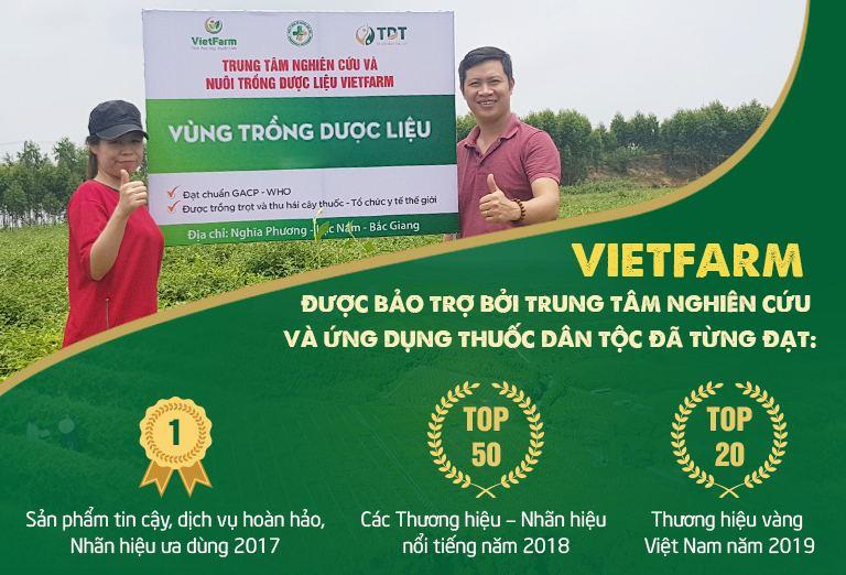 Vietfarm được bảo trợ bởi 2 đơn vị uy tín trong lĩnh vực Đông y