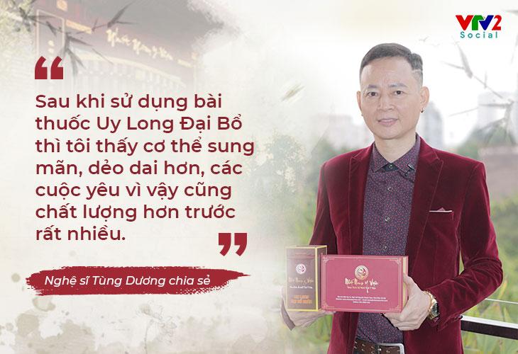 Uy Long Đại Bổ là bài thuốc được nghệ sĩ Tùng Dương lựa chọn trong điều trị sinh lý của mình
