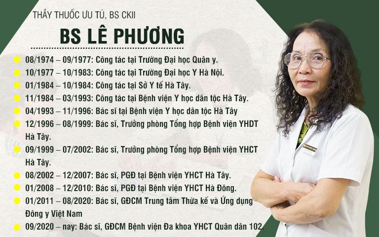 Quá trình làm việc của bác sĩ Lê Phương