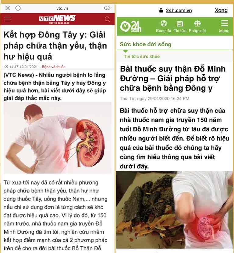 Bài đăng báo bệnh thận