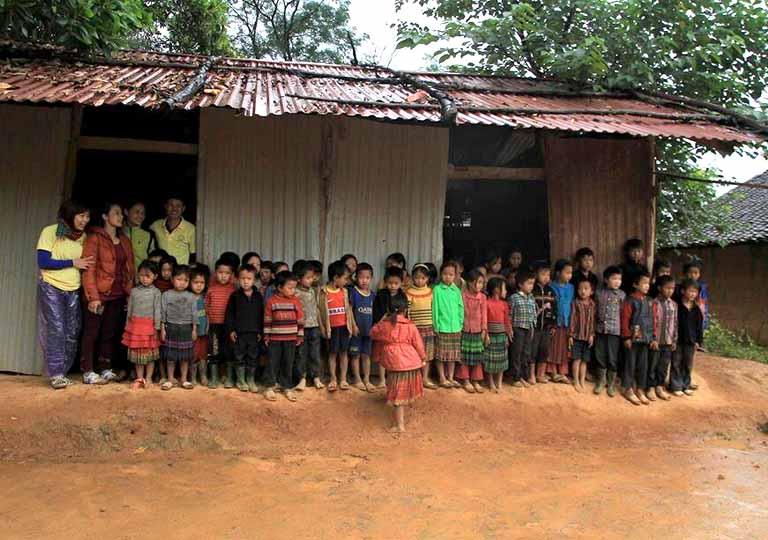 Điểm trường xã Pù Ngùa - nơi cô giáo Ngọc dạy học và sinh sống