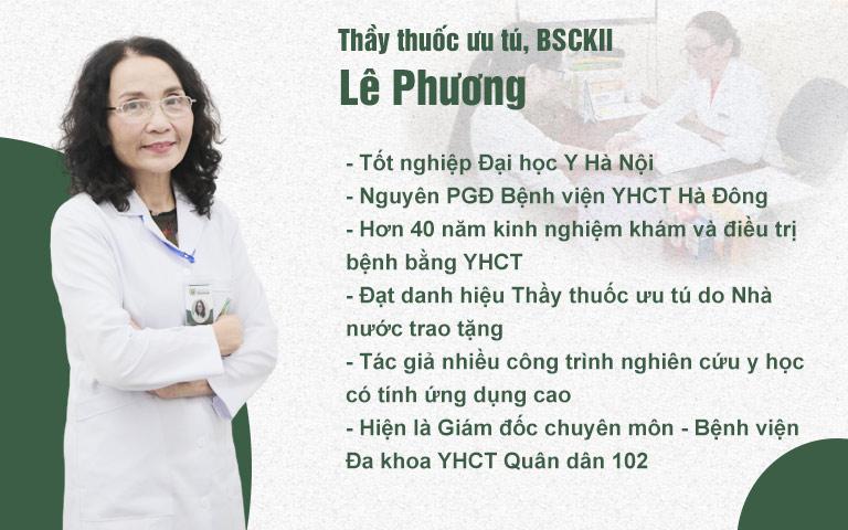 Thầy thuốc ưu tú, BSCKII Lê Phương - Giám đốc chuyên môn Bệnh viện YHCT Xương khớp Quân dân 102