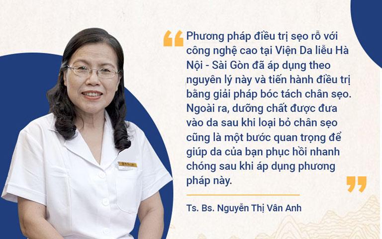Bác sĩ Nguyễn Thị Vân Anh đánh giá cao phương pháp trị sẹo của Viện Da liễu Hà Nội - Sài Gòn