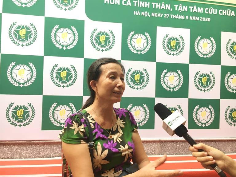 Cô Hoàng Thị Hường chia sẻ về kết quả sau 2 tháng điều trị viêm đa khớp