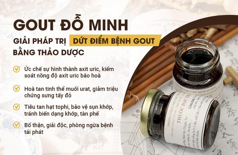 Công dụng của bài thuốc Gout Đỗ Minh
