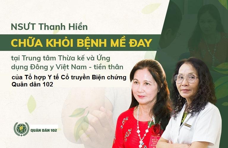 NSUT Thanh Hiền cũng từng điều trị mề đay thành công nhờ bác sĩ Phương